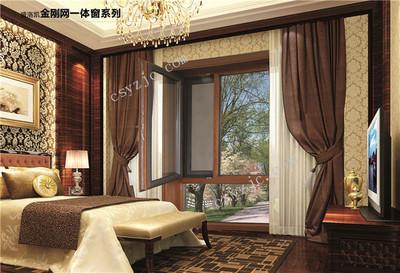SLKC13001 铝包木金钢网一体窗